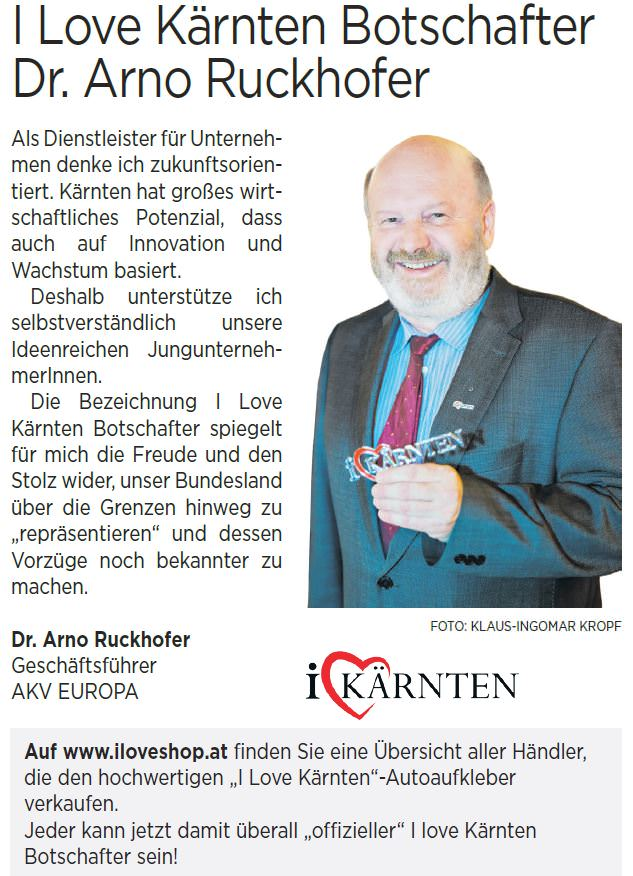 Kärnten Botschafter Arno Ruckhofer